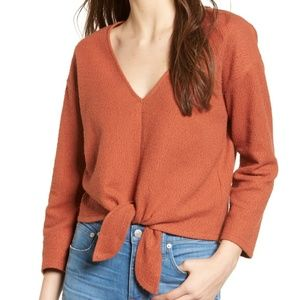 NWT ✨ Madewell Textured Tie-Front Top